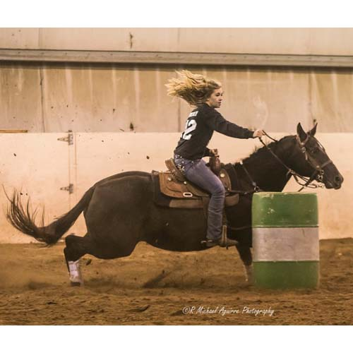 Reagan and Sassy Barrel Racing