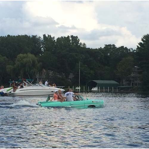 Amphibious car on Lake Minnetonka