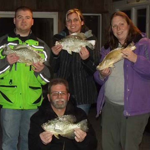 Candice and family with Crappies